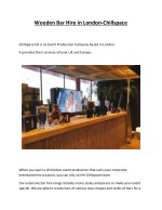 Wooden Bar Hire in London-Chillspace
