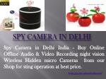 Spy Camera in Delhi