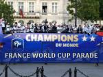 French Team parades