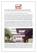 Choose Office False Ceiling Design by Experts at Western Office Solutions