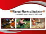Best quality mowers hoppers crossing at Freeway Mowers & Machinery