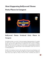 Most Happening Bollywood Theme Party Places in Gurgaon