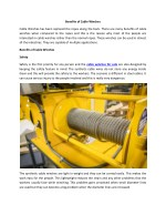 Benefits of Cable Winches
