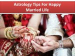 Astrology Tips For Happy Married Life