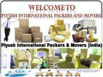 Top Packers and Movers Services in Chandigarh