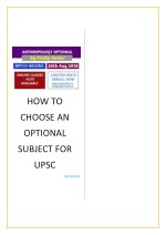 How to Choose an Optional Subject for UPSC