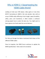 Why is HDMI 2.1 Spearheading the HDMI Cable World?