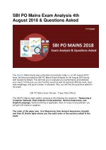 SBI PO Mains Exam Analysis