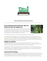 Green Coffee Extract Reviews