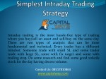 Simplest Intraday trading strategy