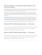 Best  SAP S/4 HANA for a successful implementation in the real time business