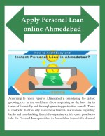How to Avail Easy and Instant Personal Loan in Ahmedabad?