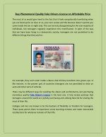Buy Phenomenal Quality Fake Drivers License on Affordable Price