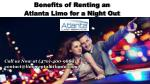 Benefits of Renting an Atlanta Limo for a Night Out
