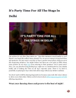 It's Party Time For All The Stags In Delhi
