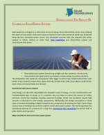 Understanding The Aspects Of Commercial Solar Energy Systems - Solar Technologies