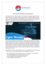 How to Protect The Ship From Cyber Threats?