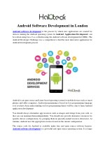 Android Software Development in London