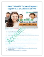 1-800-796-0471 Technical Support Sage 50 U.S. & CA Edition 2019.0