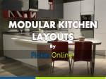 Types of Modular Kitchen Layouts