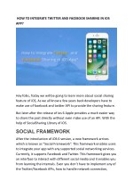 HOW TO INTEGRATE TWITTER AND FACEBOOK SHARING IN IOS APP?