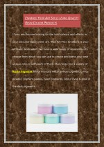 Enhance Your Art Skills Using Quality Resin Colour Products