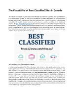 The Plausibility of Free Classified Sites in Canada