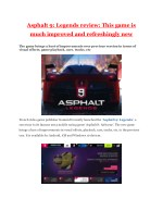 Asphalt 9: Legends review: This game is much improved and refreshingly new