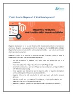 What's New In Magento 2.0 Web Development?