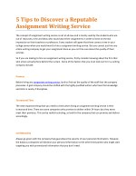 5 Tips to Discover a Reputable Assignment Writing Service