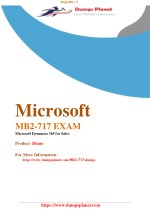 Microsoft MB2-717 Dumps questions Answers