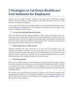 Healthcare Cost Solutions for Employers