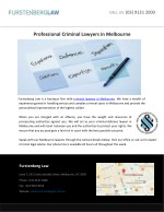 Professional Criminal Lawyers in Melbourne