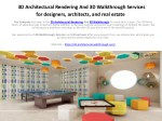 3D Architectural Rendering And 3D Walkthrough Services for designers, architects, and real estate
