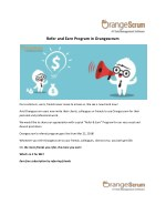 Refer and Earn with Orangescrum