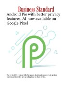 Android Pie with better privacy features, AI now available on Google Pixel