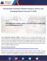 Honeycomb Containers Market Analysis, Drivers and Emerging Players Forecast To 2022