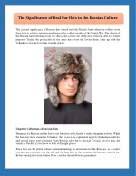 The Significance of Real Fur Hats in the Russian Culture