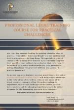 Uplift Your Legal Career with Online Professional Training Course