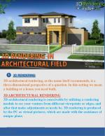 3d rendering uses in 3d architectural rendering | 3d interior rendering | 3d exterior rendering