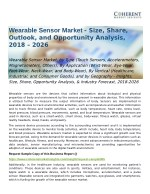 Wearable Sensor Market Industry Forecast, 2018-2026