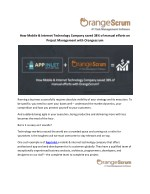 How Mobile & Internet Technology Company saved 38% of manual efforts on Project Management with OrangeScrum?