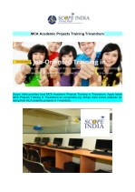 MCA Academic Projects Training Trivandrum