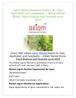 Lignin Market Potential Growth, Analysis, Strategies and Forecast 2024