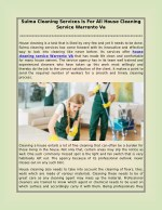 Sulma Cleaning Services Is For All House Cleaning Service Warrento Va