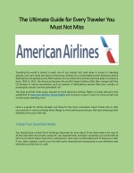 American Airline Phone Number Customer Service