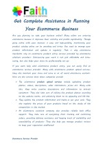 Get Complete Assistance to Running Your Ecommerce Business