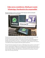 Fake news crackdown: Modi govt wants WhatsApp, Facebook to be responsible