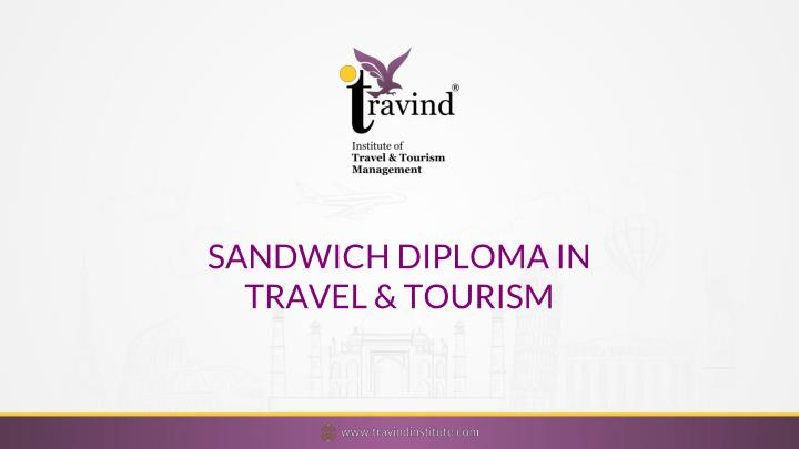 sandwich diploma in travel tourism n.