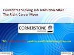 Candidates Seeking Job Transition Make The Right Career Move